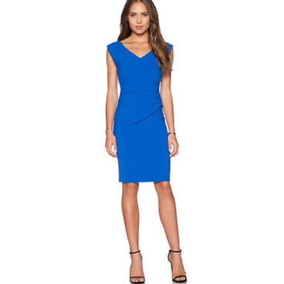 Diane Von Furstenberg Dresses & Skirts - Diane Von Furstenberg | Blue Ruched Bodycon Dress